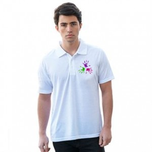 Dye Sub White Polo Shirt