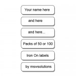 Iron On Name labels (Clothing)