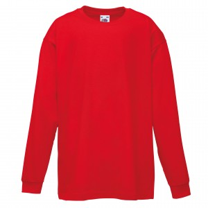 Red Childrens Long Sleeve T shirt