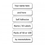 Self Adhesive Name Labels (Not for Clothing)